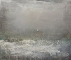 """Saatchi Art Artist Chris Hankey; Painting, """"Storm January 2014 Porth Nanven No.2 Oil on canvas 38x44 inches"""" #art"""