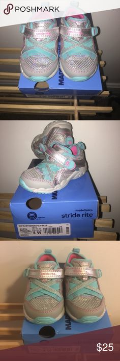STRIDE RITE sparkly toddler baby shoes Brand new with box stride rite shoes size 4W even though they don't seem wide to me! Brand new never been worn! Make an offer! Stride Rite Shoes