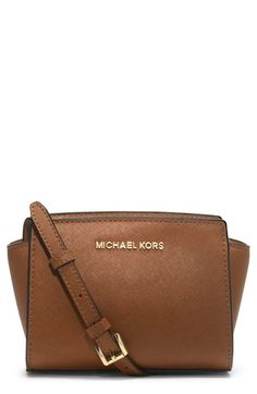 MICHAEL Michael Kors  Selma - Mini  Saffiano Leather Messenger Bag  available at  Nordstrom ba98bd7465506