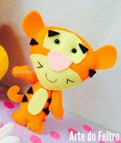 Eu Amo Artesanato: Tigre de feltro com molde