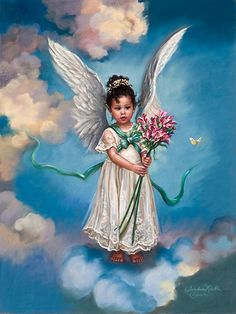sandra kuck | SANDRA KUCK April Day Lily Angel Art