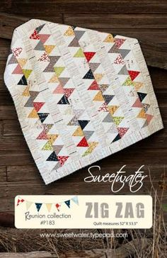Reunion Moda fabric   Zig Zag - by Sweetwater - Quilt PatternSECONDARY_SECTION$11.00: Fabric Patch: Patchwork Quilting fabrics, Moda fabric, Quilt Supplies,�Patterns