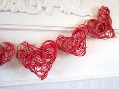 How To Make String Hearts For Valentine's Day (Intertwined Hearts)