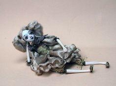 Small ooak art doll Sleeping Beauty Nice by DovileDolldeco