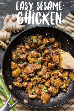 This incredibly Easy Sesame Chicken is faster and tastier than take out You control the ingredients you control the flavor chicken chickenrecipes easydinner easyrecipe stirfry takeout comfortfood Easy Sesame Chicken, Sesame Chicken Recipes, Asian Recipes, Healthy Recipes, Easy Recipes, Top Recipes, Healthy Chinese Recipes, Healthy Options, Entrees