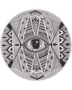 All-Seeing Eye Mandala Print.