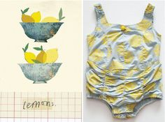 lily&Bloom . Oranges & lemOns . gOrgeOus illustration by @clairrossiter . & . cUte swimsuit from @wovenplay .