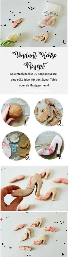Von wegen, Plätzchen sind nur was für Weihnachten! Schöne Fondant Kekse eignen sich für jeden Anlass...mit diesem Rezept backst Du sie ganz einfach selber! Yummy...