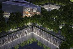 world trade center memorial pics | Design plans for the World Trade Center memorial museum pavilion ...