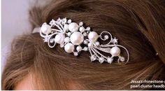 Details of Jessas hair tiara