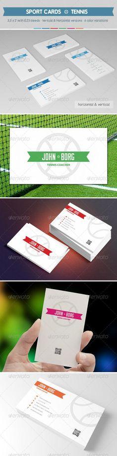 Sport Business Cards - Tennis
