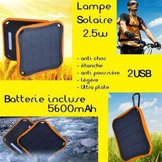 Lampe solaire avec batterie