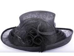 Chapeau cérémonie Lolly en sisal noir