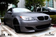 BMW E60 M5 Wrapped in Dark Metallic Grey by DBX | Diamond Black Exteriors - DBX - Car Wraps in Los Angeles