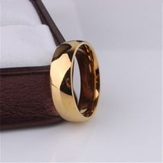 Promotion 18K yellow gold plated ring 6mm wedding rings for men women stainless steel couple jewelry wholesale♦️ SMS - F A S H I O N 💢👉🏿 http://www.sms.hr/products/promotion-18k-yellow-gold-plated-ring-6mm-wedding-rings-for-men-women-stainless-steel-couple-jewelry-wholesale/ US $0.78