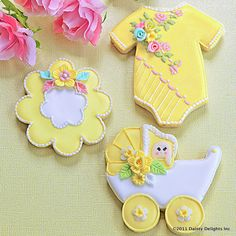 My Little Buttercup Baby Shower Cookies