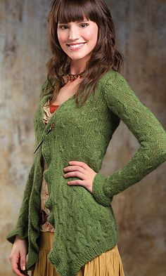 Ravelry: Uncommon Cabled Cardigan pattern by Michael del Vecchio