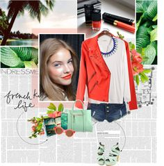 """""""French Kiss Life"""" by randomlife ❤ liked on Polyvore"""