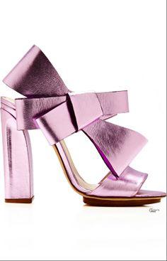 DELPOZO ● SS 2014, Bow Slingback Sandal