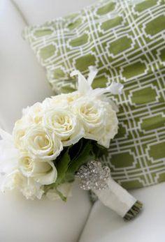 Wedding, Flowers, Bouquet, Brown, Roses, Teal, Romantic, Cream