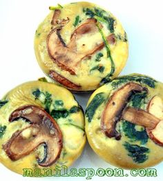 Mini Spinach, Mushroom & Cheese Quiche bites