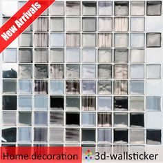 New Arrivals peel and stick glass wall tile