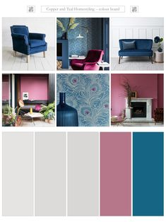 Colour advice enabling you to establish your unique interior style through paint choice. Farrow And Ball Bedroom, Grey Hallway, Carlton House, Velvet Furniture, Interior Concept, Colour Board, New Wallpaper, Paint Colours, Blue Velvet