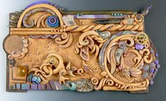 the Irish illuminated manuscript, the Book of Kells, was the inspiration for this piece - check out the colors and imagery from that manuscript sometime and see where it takes you.   #celtic #polymer #cf