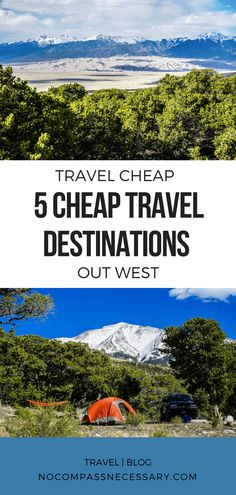 5 Amazing Cheap Travel Destinations out west you have to see! Find out where to visit in New Mexico, Colorado, and Utah!