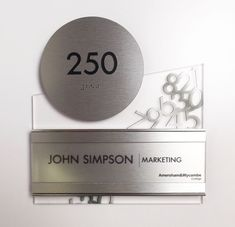 Fusion ADA Interior Room ID Sign w/ changeable insert.  #signage #wayfinding