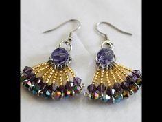 ▶ How to make fan wire jewelry earrings - YouTube
