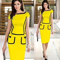0ca4af13dcc Hot Summer Women Dress Work Wear 2015 Summer Style Womens Slim Fitted  Bodycon Pencil Dresses Plus Size Party Dresses For Women 1