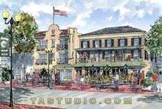american_hotel_building_watercolor.jpg (670×454)