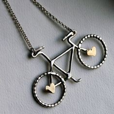 adorable bicycle necklace