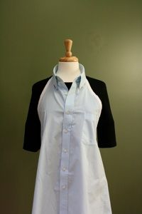 apron out of a mens shirt