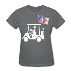 Women American Flag Travis S Mathew Crew Neck Short Sleeve T-shirt DeepHeather X-Small -- Awesome products selected by Anna Churchill