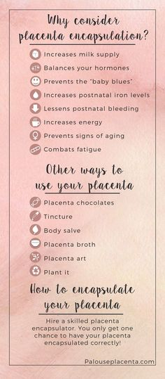 Benefits of Placenta Encapsulation.  #placenta