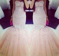 Hot Sale Off The Shoulder vestido de festa Long Mermaid Sleeveless Sweetheart Heavy Beaded Crystals Prom Dress Free Shipping