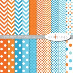 Chevron and Polka Dots. I love this way to much.