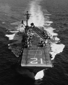 USS Hornet (CVS-12) underway on August 9, 1968, shortly before her final 7th Fleet deployment from September 30, 1968 to May 12, 1969 to Western Pacific and Vietnam. On deck are various aircraft Anti-Submarine Air Group 57. (wikipedia.image) 10.16 New