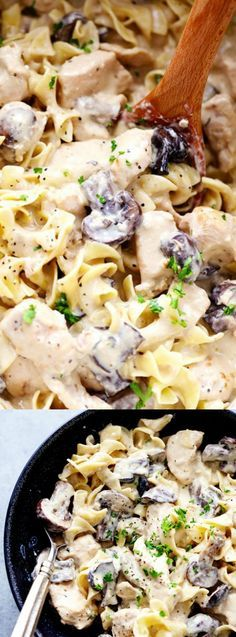 This Slow Cooker Chicken and Mushroom Stroganoff from The Recipe Critic only takes a few minutes to throw in the slow cooker — and 5 hours later dinner is ready! When it's done cooking it is so creamy and delicious, it's sure to become a new family favorite!