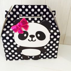 Girl Panda Birthday Party Gable Treat Boxes by TheLovelyMemories, $22.00