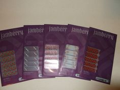 JAMBERRY  NAIL WRAPS LOT OF 5 NEW CHRISTMAS FROSTY SNOW FLAKES HOLIDAY         #JAMBERRY