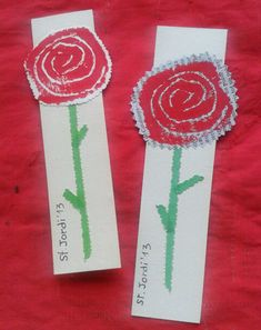 Els Petits Infants: Per Sant Jordi, punts de llibre ! St Georges Day, My Bookmarks, Spanish Activities, Saint George, Art For Kids, Saints, Projects To Try, Arts And Crafts, Spring