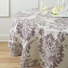 "Lucia 90"" Round Tablecloth  