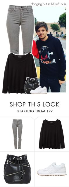 """""""Hanging out in LA w/ Louis"""" by amberamelia-123 ❤ liked on Polyvore featuring J Brand, rag & bone and New Balance"""