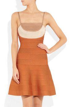 Hervé Léger's Tri-tone A-line bandage dress
