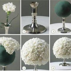 Simple wedding center piece