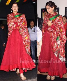 There are many kinds of Silk Dupatta one can have which are in different fabric styles from yarn to weaving styles. The most common kinds are the Banarasi Silk dupattas, Ikat… Anarkali Dress, Pakistani Dresses, Indian Dresses, Indian Outfits, Emo Outfits, Lehenga, Trendy Outfits, Sonam Kapoor, Indian Attire