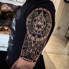 Latest Aztec Tattoo Idea | Tattoobite.com